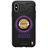OtterBox Otter + Pop symmetry Phone case with LA Lakers 2020 NBA Champions Design