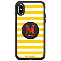 OtterBox Otter + Pop symmetry Phone case with Maryland Terrapins Primary Logo and Striped Design