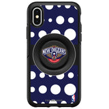 OtterBox Otter + Pop symmetry Phone case with New Orleans Pelicans Primary Logo Polka Dots design