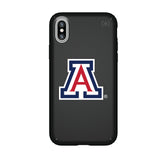 Speck Black Presidio Series Phone case with Arizona Wildcats Primary Logo