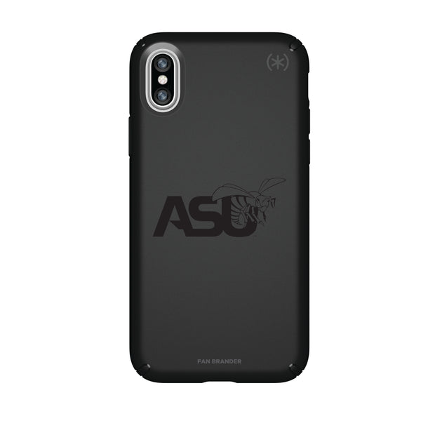 Speck Black Presidio Series Phone case with Alabama State Hornets Primary Logo in Black