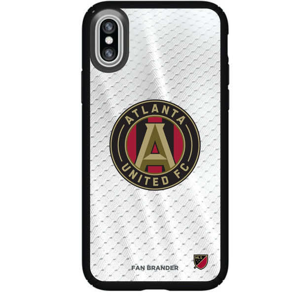 Speck Black Presidio Series Phone case with Atlanta United FC Primary Logo with Jersey design