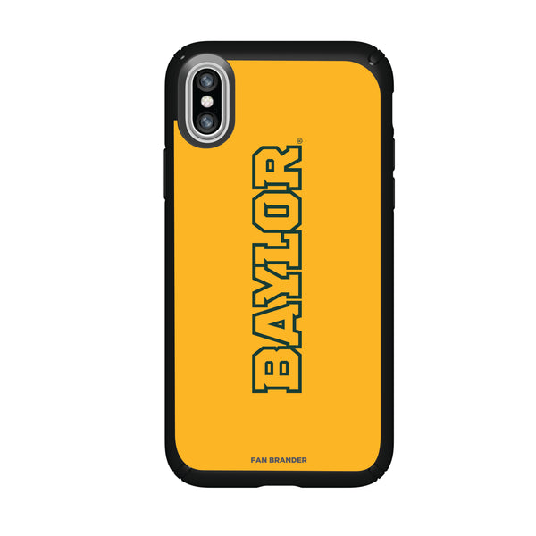 Speck Black Presidio Series Phone case with Baylor Bears Wordmark Design