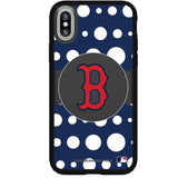 Speck Black Presidio Series Phone case with Boston Red Sox Primary Logo with Polka Dots