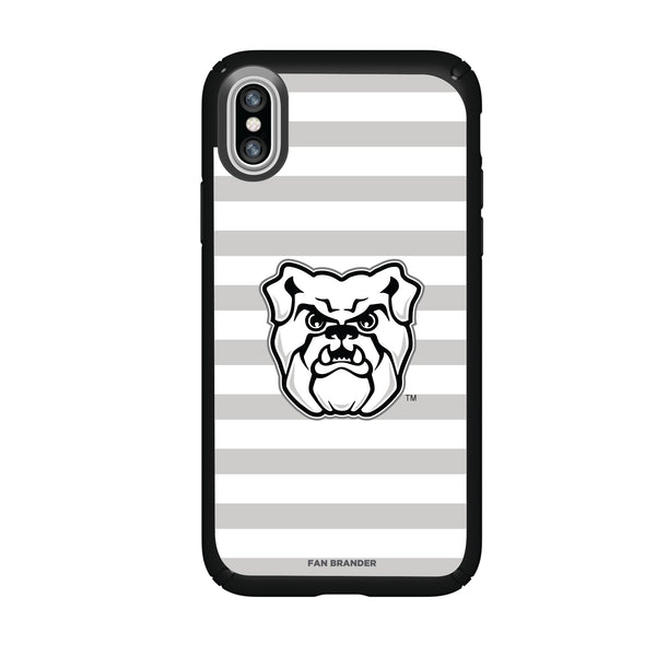 Speck Black Presidio Series Phone case with Butler Bulldogs Primary Logo and Striped Design