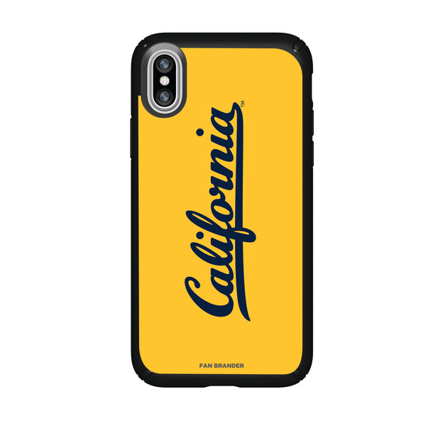 Speck Black Presidio Series Phone case with California Bears Wordmark Design