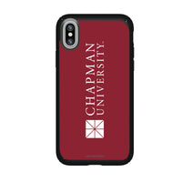 Speck Black Presidio Series Phone case with Chapman Univ Panthers Wordmark Design