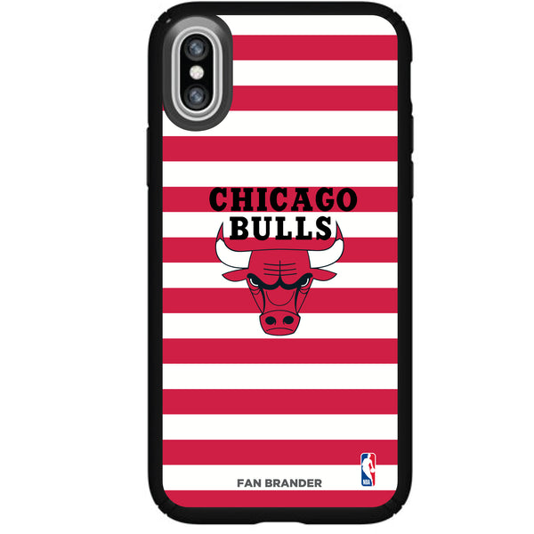 Speck Black Presidio Series Phone case with Chicago Bulls Striped Design