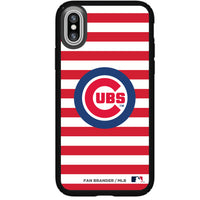 Speck Black Presidio Series Phone case with Chicago Cubs Striped Design