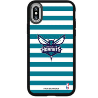 Speck Black Presidio Series Phone case with Charlotte Hornets Striped Design