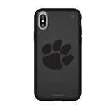 Speck Black Presidio Series Phone case with Clemson Tigers Primary Logo in Black
