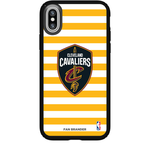 Speck Black Presidio Series Phone case with Cleveland Cavaliers Striped Design