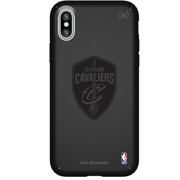 Speck Black Presidio Series Phone case with Cleveland Cavaliers Primary Logo In Black