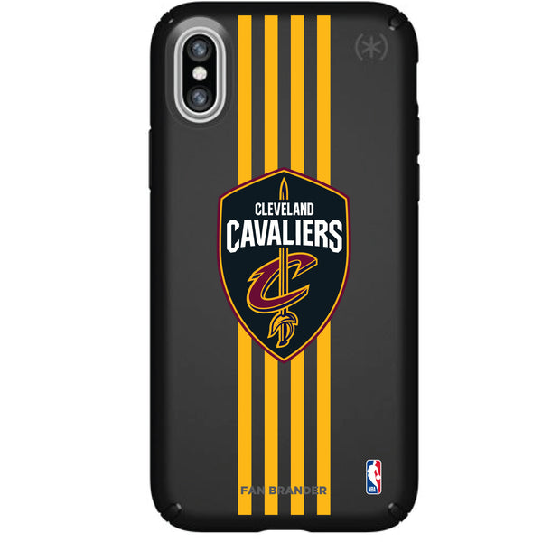Speck Black Presidio Series Phone case with Cleveland Cavaliers Vertical Stripes