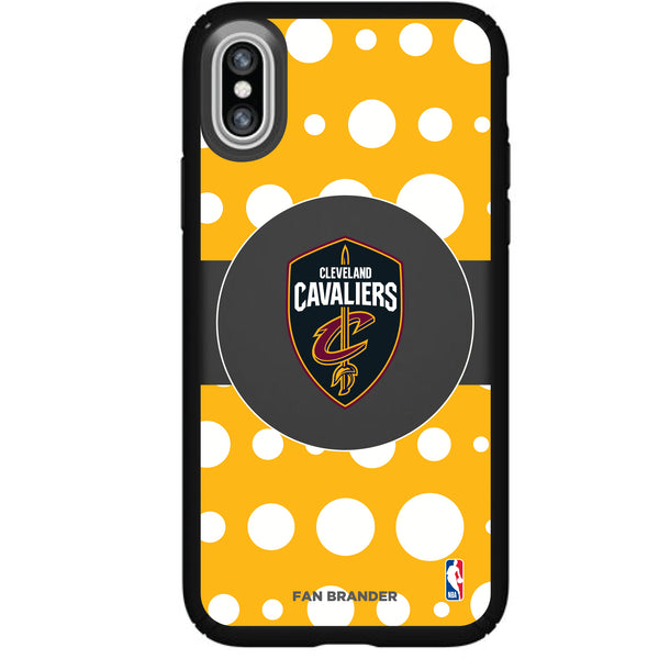 Speck Black Presidio Series Phone case with Cleveland Cavaliers Polka Dot Design