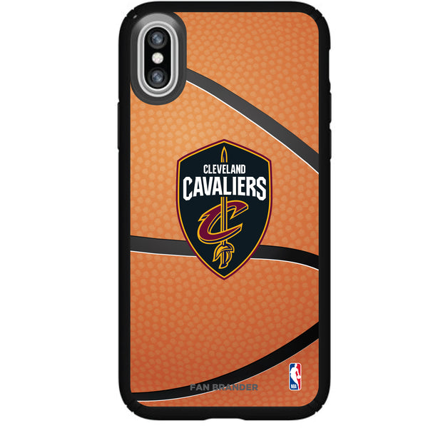 Speck Black Presidio Series Phone case with Cleveland Cavaliers Basketball background