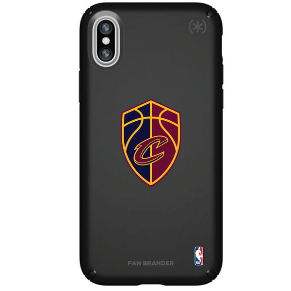 Speck Black Presidio Series Phone case with Cleveland Cavaliers Secondary Logo
