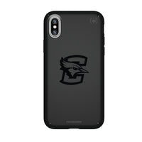 Speck Black Presidio Series Phone case with Creighton University Bluejays Primary Logo in Black