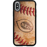 Speck Black Presidio Series Phone case with Cincinnati Reds Primary Logo with Baseball Design