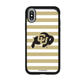 Speck Black Presidio Series Phone case with Colorado Buffaloes Primary Logo and Striped Design