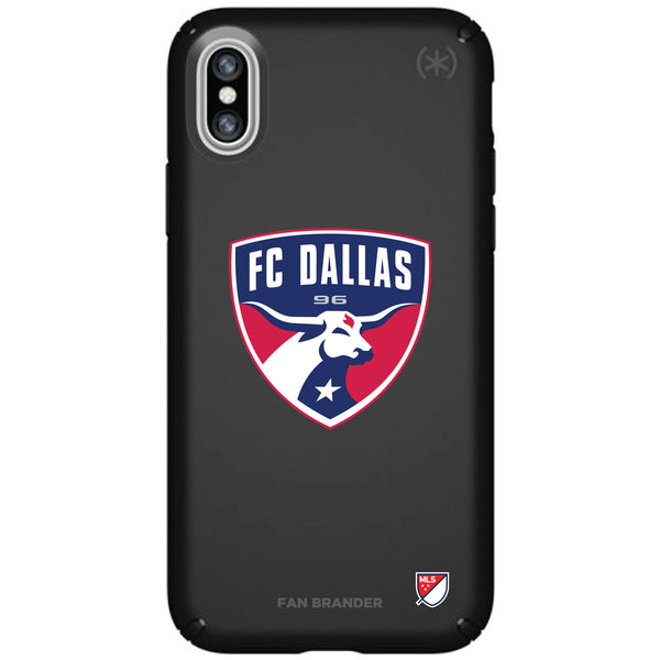 Speck Black Presidio Series Phone case with FC Dallas Primary Logo