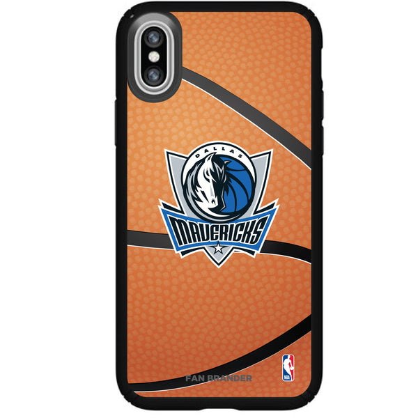 Speck Black Presidio Series Phone case with Dallas Mavericks Secondary logo with Basketball background