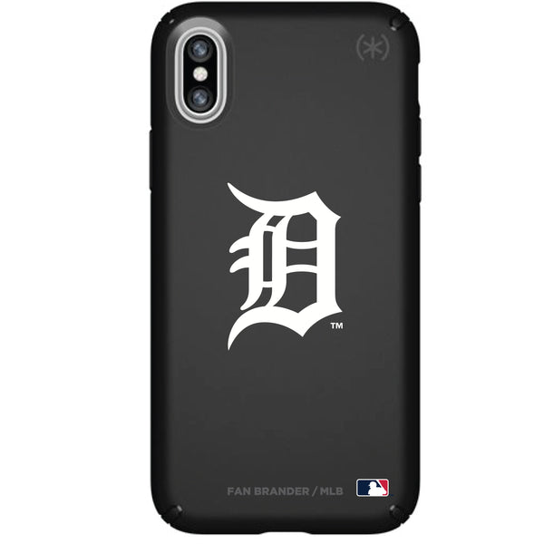 Speck Black Presidio Series Phone case with Detroit Tigers Primary Logo