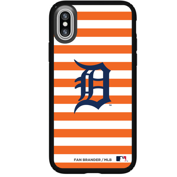 Speck Black Presidio Series Phone case with Detroit Tigers Striped Design