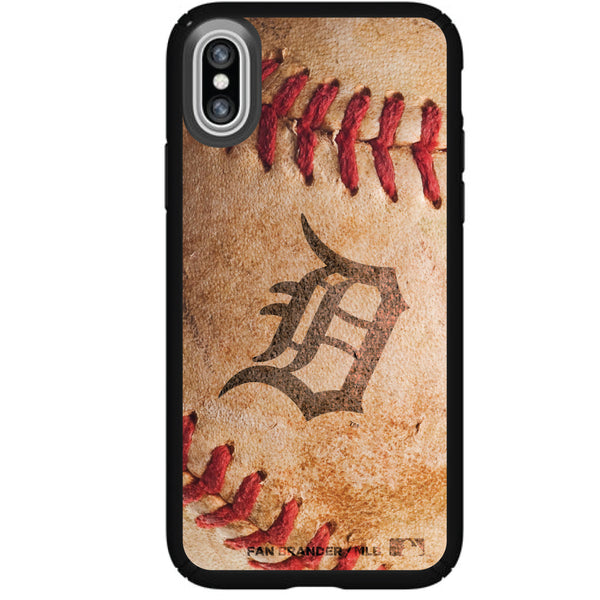 Speck Black Presidio Series Phone case with Detroit Tigers Primary Logo with Baseball Design