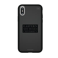 Speck Black Presidio Series Phone case with Eastern New Mexico Greyhounds Primary Logo in Black