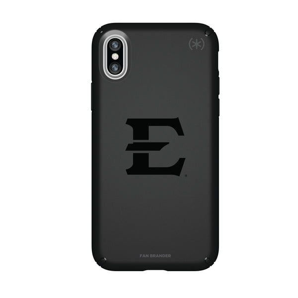 Speck Black Presidio Series Phone case with Eastern Tennessee State Buccaneers Primary Logo in Black