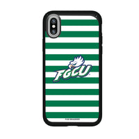 Speck Black Presidio Series Phone case with Florida Gulf Coast Eagles Primary Logo and Striped Design