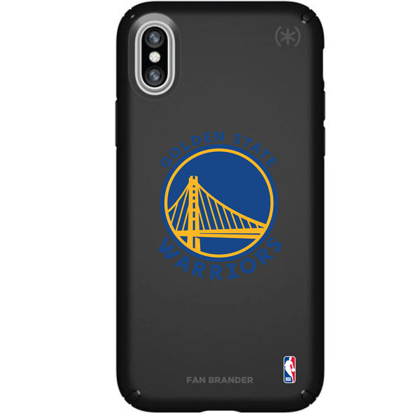 Speck Black Presidio Series Phone case with Golden State Warriors Primary Logo