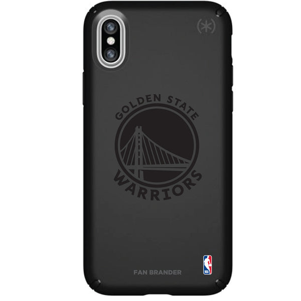 Speck Black Presidio Series Phone case with Golden State Warriors Primary Logo In Black