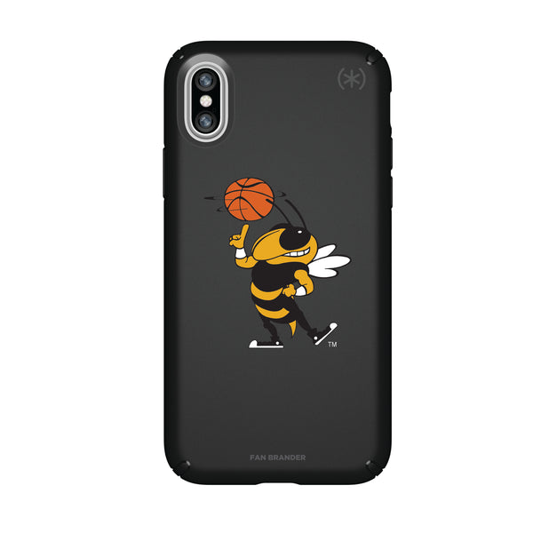 Speck Black Presidio Series Phone case with Georgia Tech Yellow Jackets Secondary Logo
