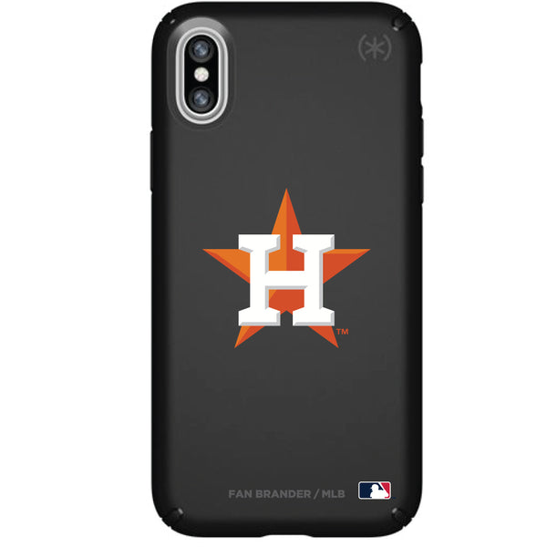 Speck Black Presidio Series Phone case with Houston Astros Primary Logo