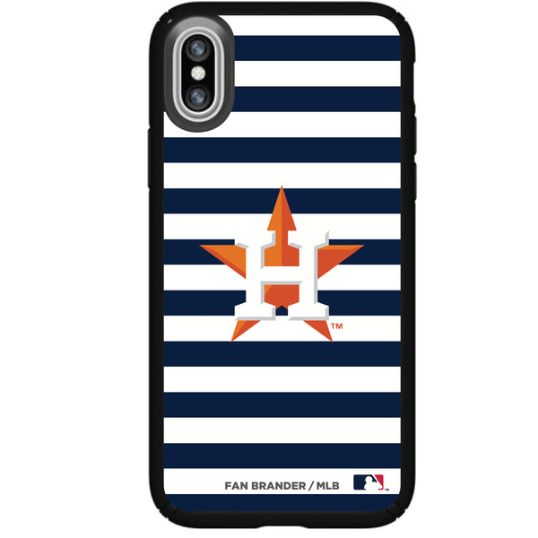 Speck Black Presidio Series Phone case with Houston Astros Striped Design