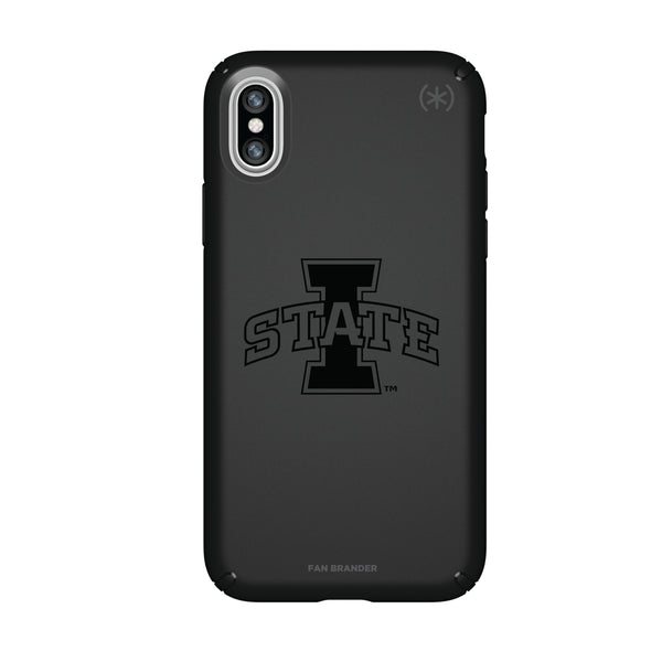 Speck Black Presidio Series Phone case with Iowa State Cyclones Primary Logo in Black