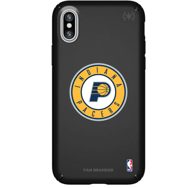 Speck Black Presidio Series Phone case with Indiana Pacers Primary Logo