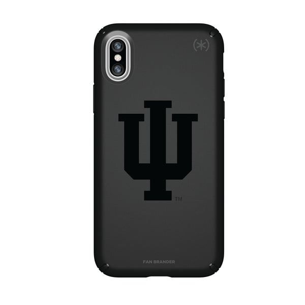 Speck Black Presidio Series Phone case with Indiana Hoosiers Primary Logo in Black