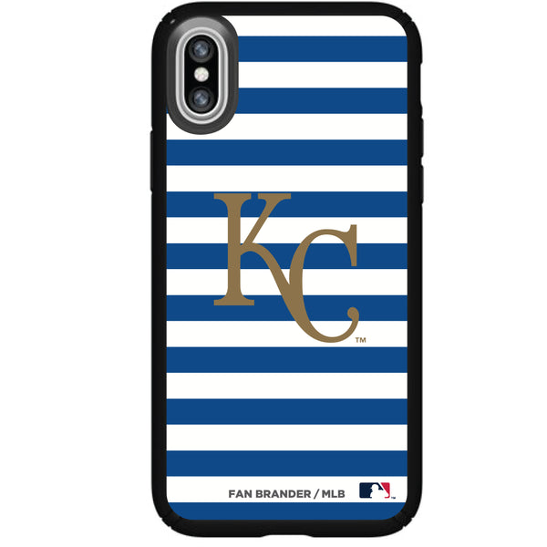Speck Black Presidio Series Phone case with Kansas City Royals Striped Design