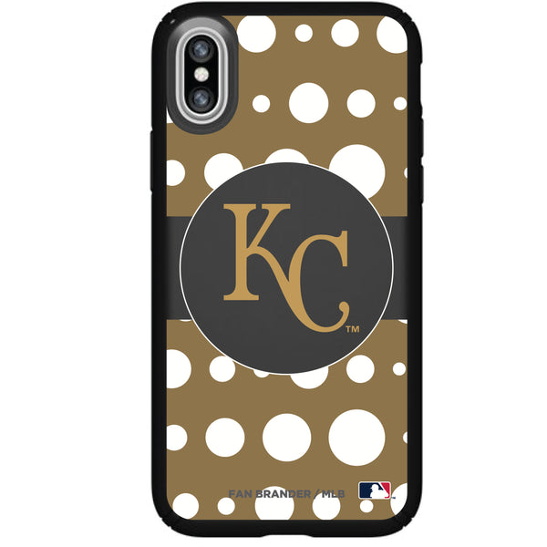 Speck Black Presidio Series Phone case with Kansas City Royals Primary Logo with Polka Dots