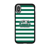 Speck Black Presidio Series Phone case with Loyola Univ Of Maryland Hounds Primary Logo and Striped Design