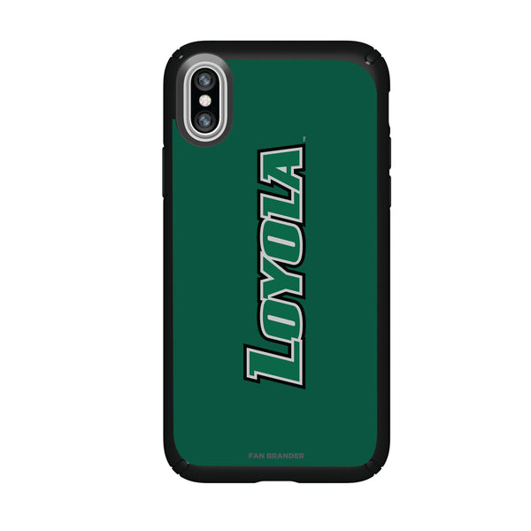 Speck Black Presidio Series Phone case with Loyola Univ Of Maryland Hounds Wordmark Design