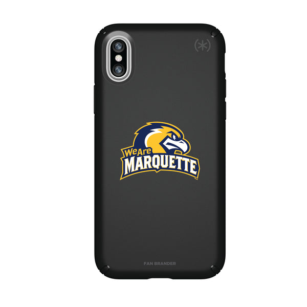 Speck Black Presidio Series Phone case with Marquette Golden Eagles Secondary Logo