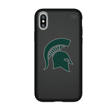 Speck Black Presidio Series Phone case with Michigan State Spartans Primary Logo