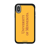 Speck Black Presidio Series Phone case with Minnesota Golden Gophers Wordmark Design