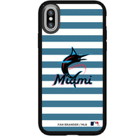 Speck Black Presidio Series Phone case with Miami Marlins Striped Design