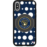Speck Black Presidio Series Phone case with Milwaukee Brewers Primary Logo with Polka Dots
