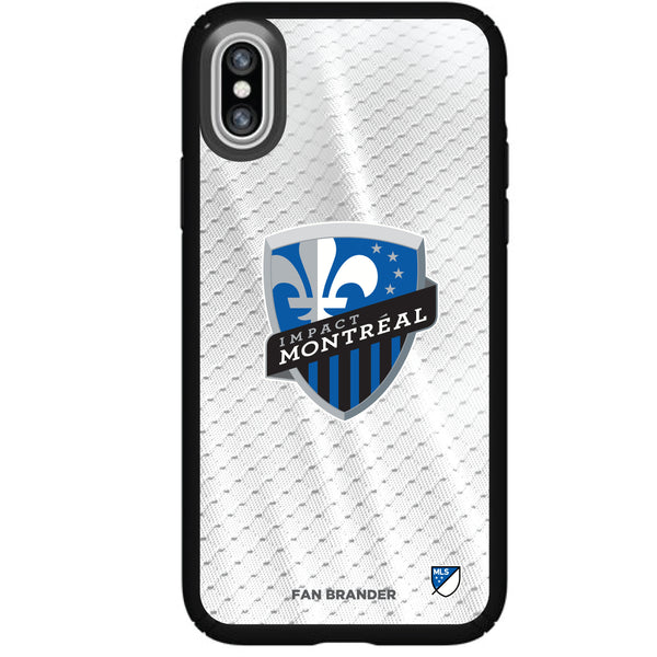 Speck Black Presidio Series Phone case with Montreal Impact Primary Logo with Jersey design
